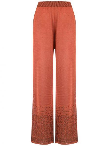 Трикотажные палаццо - оранжевые Mara Mac