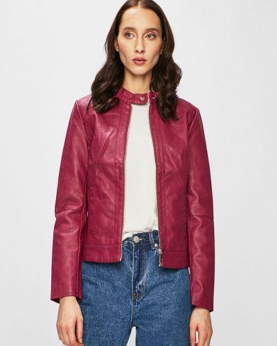 Кожаная куртка с карманами утепленная Jacqueline De Yong