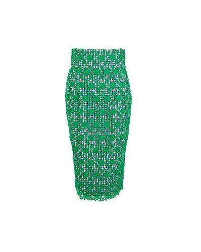 Хлопковая зеленая юбка миди Stella Jean