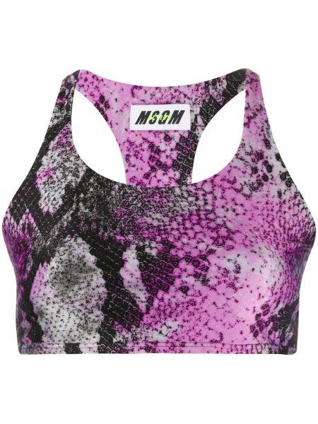 Фиолетовый спортивный бюстгальтер с вырезом Msgm