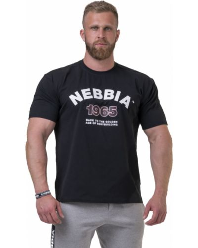 Футболка с принтом - черная Nebbia