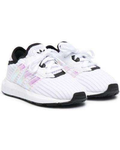 Базовый кружевной белый топ Adidas Kids