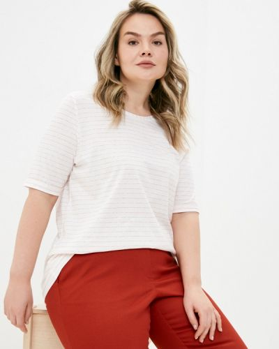 Белая футболка с короткими рукавами Ulla Popken