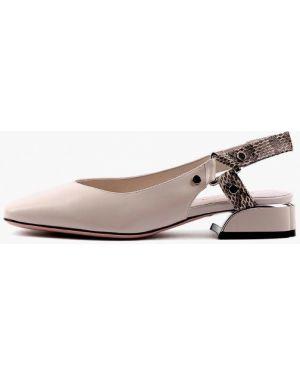 Кожаные бежевые сандалии Sasha Fabiani