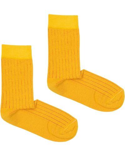 Skarpety bawełniane - żółte Kabak