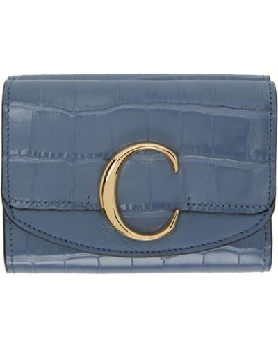 Włókienniczy czarny portfel z gniazdem prążkowany Chloe