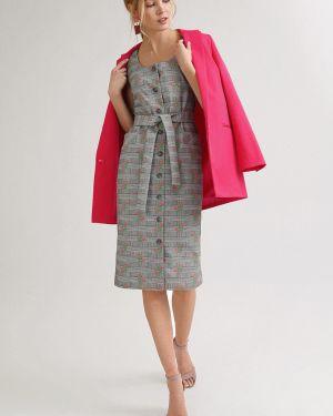 Летнее платье на пуговицах с цветочным принтом Emka