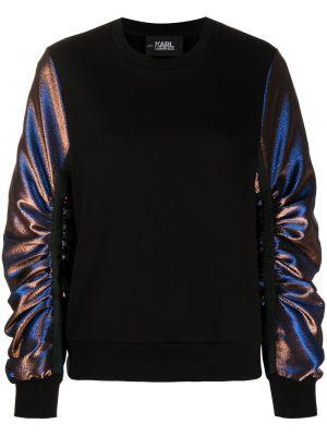 Bawełna czarny bluza z mankietami metal Karl Lagerfeld