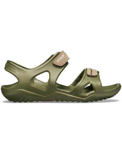 Зеленые армейские сандалии Crocs