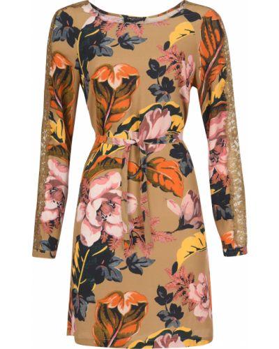 Платье из вискозы - бежевое Twin-set