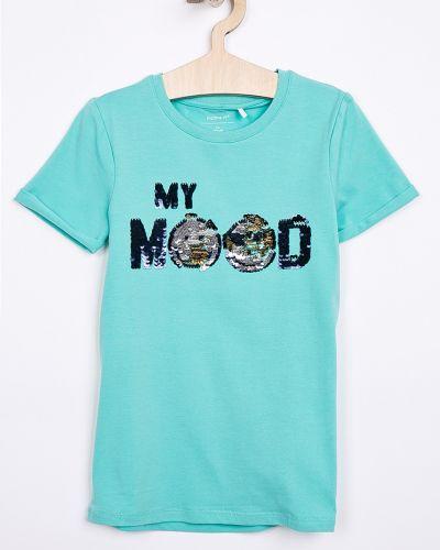 T-shirt z aplikacjami niebieski Name It