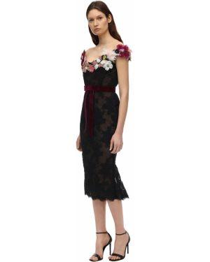 Ажурное платье с вышивкой Marchesa