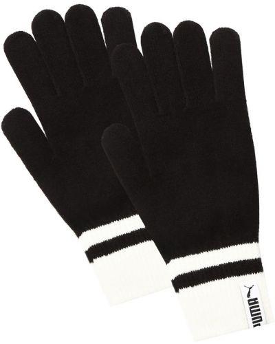 Акриловые вязаные черные перчатки Puma