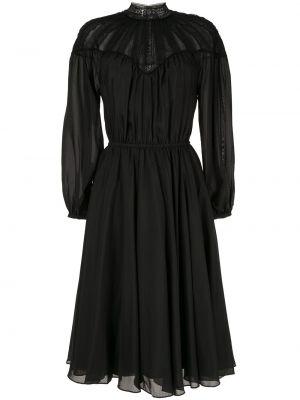 Платье миди с длинными рукавами - черное Ck Calvin Klein