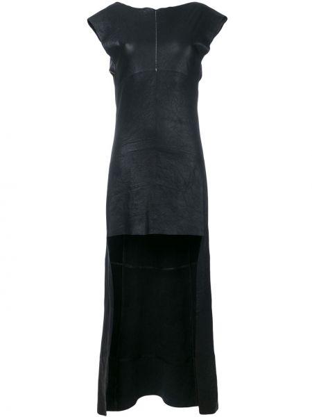 Асимметричное кожаное платье с открытой спиной без рукавов Olsthoorn Vanderwilt