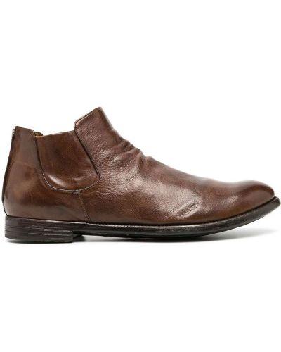 Skórzany brązowy buty skórzane Officine Creative