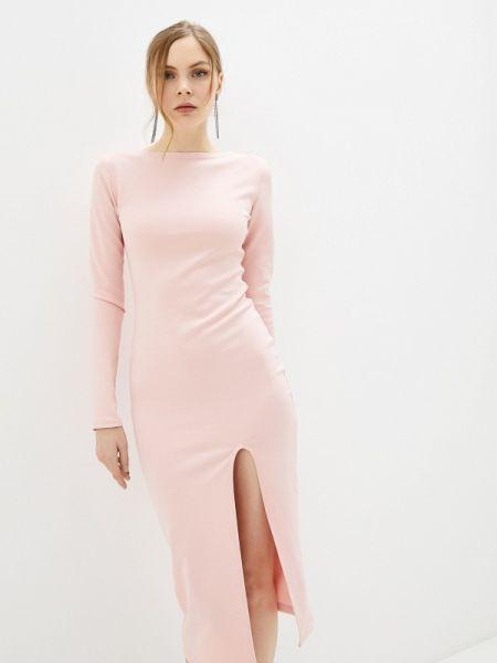 Платье розовое осеннее Malaeva