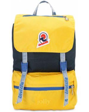Żółty torebka mini z haftem z nylonu Invicta