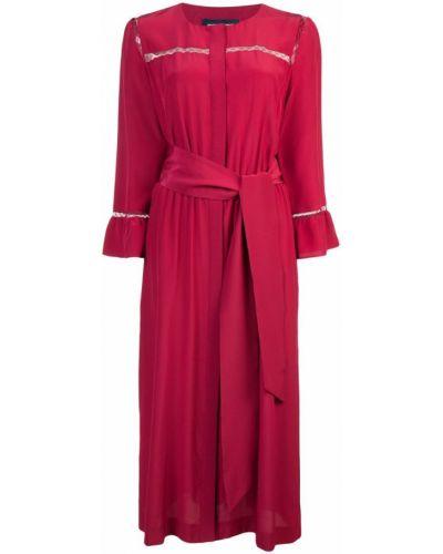 Платье с поясом платье-рубашка шелковое Vanessa Seward