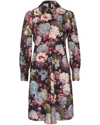 Платье мини с цветочным принтом со стразами с манжетами Tara Jarmon