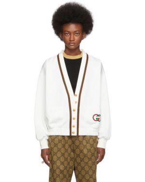 Кардиган белый длинный Gucci