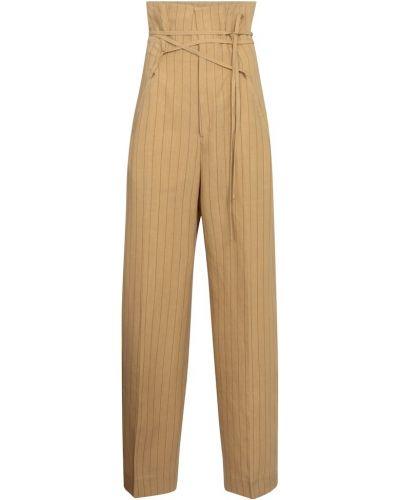 Beżowe spodnie Jacquemus