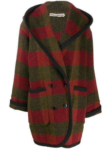 Пальто с капюшоном айвори с капюшоном Guy Laroche Pre-owned