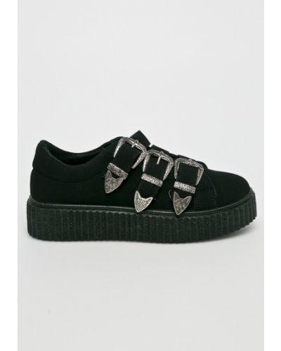 Черные ботинки на платформе Answear