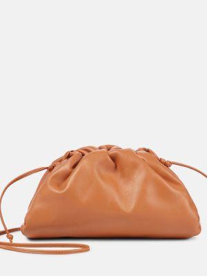 Оранжевая кожаная маленькая сумка Bottega Veneta