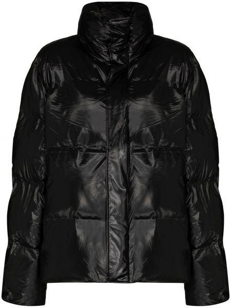 Мерцающая нейлоновая черная дутая куртка Rains