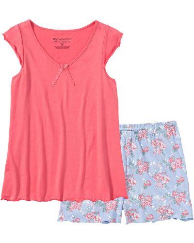 Розовая пижама с шортами Bonprix