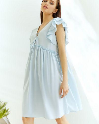 Голубое платье из вискозы Vovk