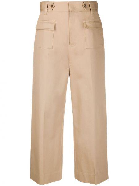 Szerokie spodnie z wysokim stanem przycięte Redvalentino