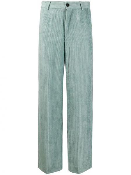 Синие брюки вельветовые с карманами Forte Forte