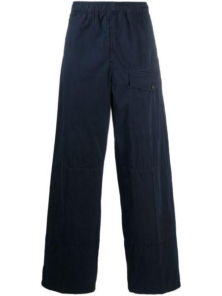 Niebieski bawełna prosto bawełna spodnie o prostym kroju Acne Studios
