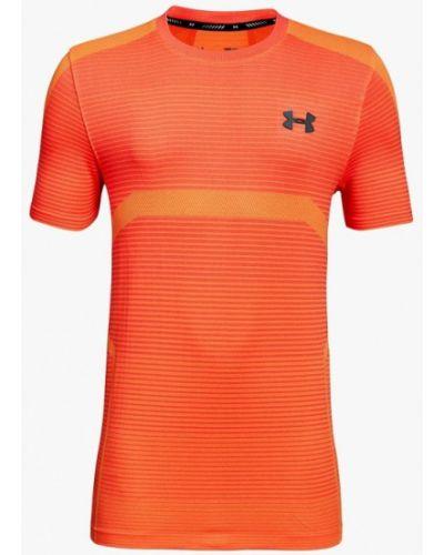 Оранжевая футболка спортивная Under Armour