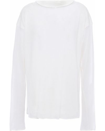 Шелковый вязаный свитер Giorgio Armani