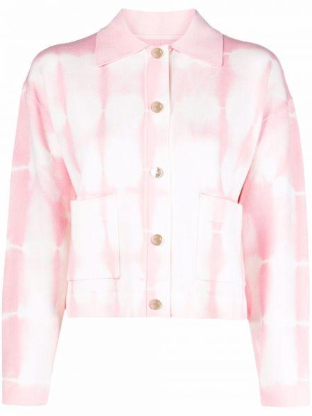 Розовый пиджак классический с воротником Sandro Paris