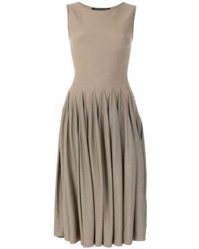 Бежевое платье плиссированное Antonino Valenti