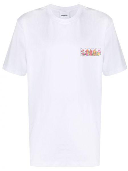 Koszula krótkie z krótkim rękawem prosto z nadrukiem Soulland
