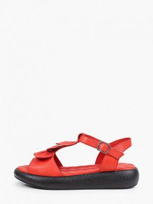 Кожаные красные сандалии Laremo