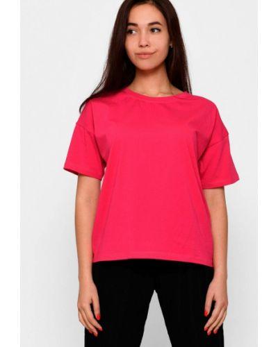 Розовая весенняя футболка Carica&x-woyz