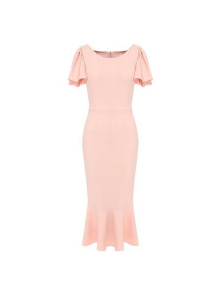Платье миди розовое осеннее Dolce & Gabbana