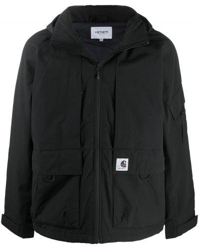 Z rękawami czarny płaszcz przeciwdeszczowy od płaszcza przeciwdeszczowego z kieszeniami Carhartt Wip