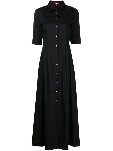 Платье макси длинное - черное Staud