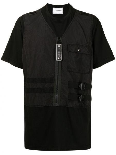 Черная футболка с карманами Iceberg