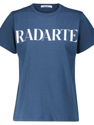 Ватная хлопковая синяя футболка Rodarte