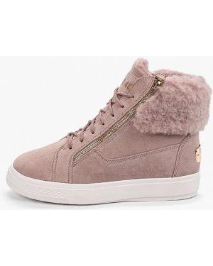 Высокие кроссовки замшевые розовый Rio Fiore