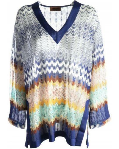 Niebieska koszula Missoni