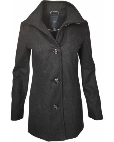 Пальто с воротником - серое Nautica